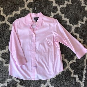 Quick Look 1X 3/4 Sleeve Button Downs